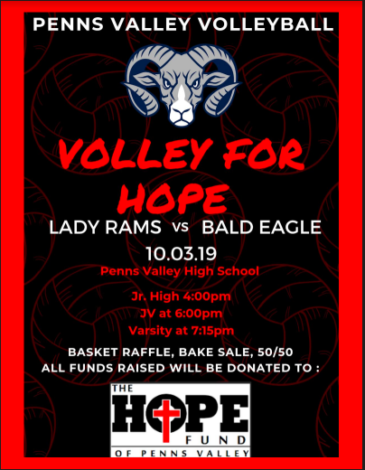 Volley for Hope, Thursday October 3rd!