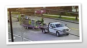A near by traffic camera got a photo of the truck driving off with the stolen Go-Gator ride.