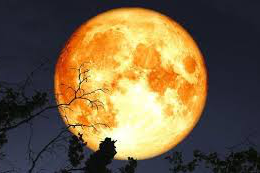 Photo of the Harvest Moon.