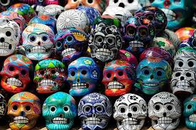 Skulls during the Day of the Dead.