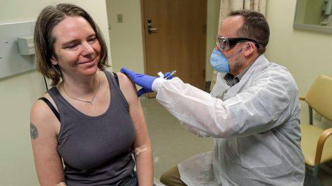 Getting the COVID-19 vaccine.